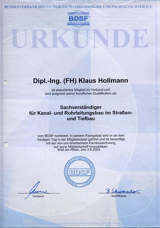 Klaus Hollmann - Prüf- & Sachverständigenbüro für Rohrleitungen